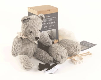Limited Edition - Vintage Teddy Bear Knitting Kit 'Bertie'
