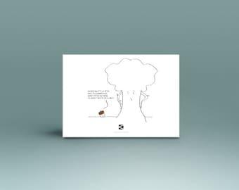 """Carte Postale """"Gland"""" - Illustration"""