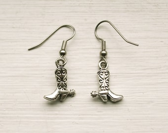 Cowboy Boot Earrings - Country Girl Jewelry - Gifts for Her - Cowgirl Accessories - Cowgirl Gift - Cowgirl Boot Accessory