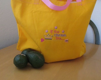 Crown shopping/market bag