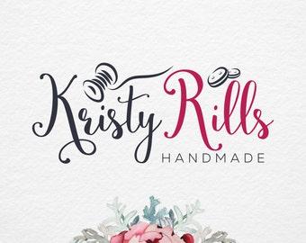 Handmade Sewing shop logo ,thread logo and Watermark