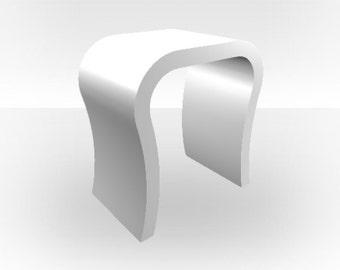White Gloss Bedside Table - Curved