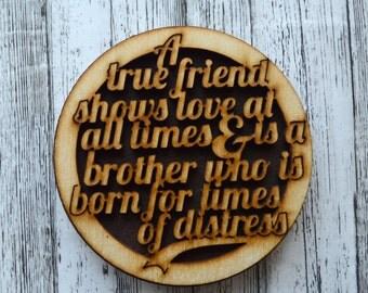 A True Friend Shows Love - magnet