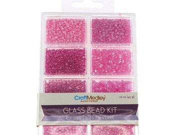 Loose Glass Beads Kit, Blush, 45-gram