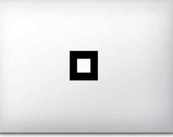 Square - Mac Apple Logo Cover Laptop Macbook Ipad Iphone Vinyl Decal Sticker