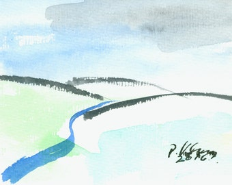 Small watercolor landscape