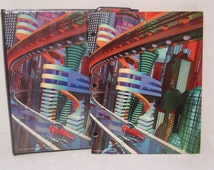 Trapper Keeper, Vintage Mead Notebook, Space City, Furtro City, Three Ring Binder, Trapper Keeper Folder, Future City, School Supplies