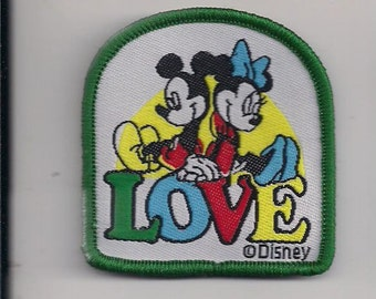 MICKEY MOUSE Love Sew on patch 2 X 2