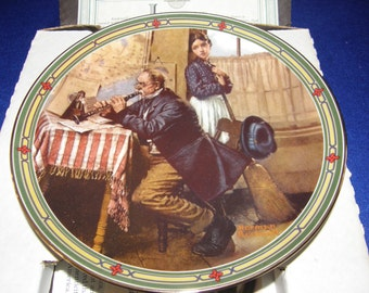 """Norman Rockwell's American Dream Series """" The Musician's Magic """" Col. Plate 1987"""