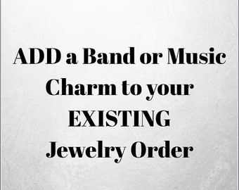 ADD A Band Charm To Your Necklace Or Bracelet Order - NOT For Individual Sale