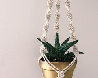 boho macrame plant hanger hanging planter minimalist decor
