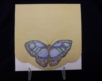 Guilded Butterfly Note Card