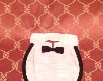 Baby tuxedo bib