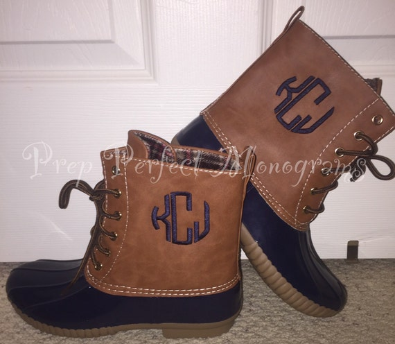Monogrammed Duck Boots By Prepperfect On Etsy