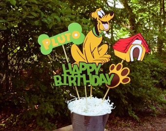 Pluto Birthday Table Centerpiece, Mickey Mouse Birthday Decorations, Party Decorations