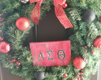 Serority swag! Rep your Serority this holiday with this festive wreath!!!