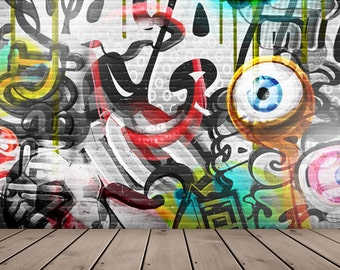 graffiti wall Vinyl Photography Backdrop Printed background Newborns Portrait Teen Adults Photo Background D-6564
