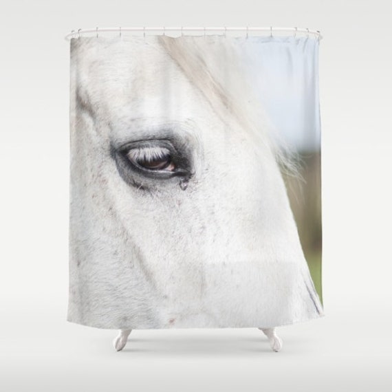 Bathroom decor with horses : Items similar to shower curtain bathroom decor modern