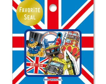 Mind Wave England London British assorted sticker,flake sticker,craft supply,scrapbook supply,diary sticker,colorful sticker