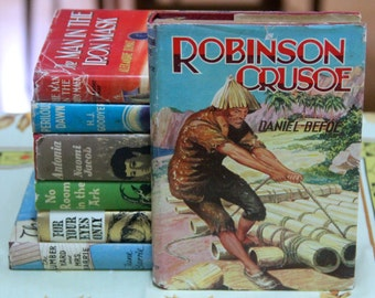 "A striking 1960s Deans Classic Series of ""Robinson Crusoe"" by Daniel Defoe"