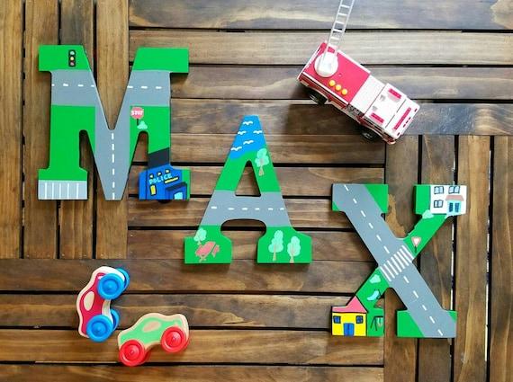 Wooden Letters For Nursery Car Nursery Decor Nursery Wall