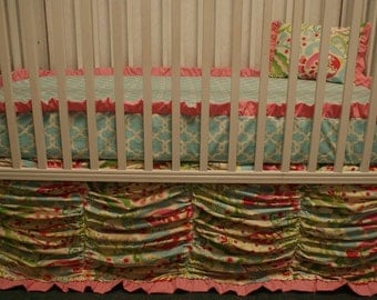 "Crib Bedding - ""Kumari Ruffle"""