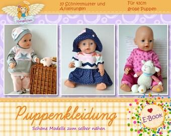 37 Schnittmuster Gr: 43cm Puppen - Puppenkleidung E-Book