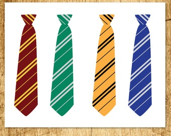 """Harry Potter Inspired Printable Ties Party Favor  