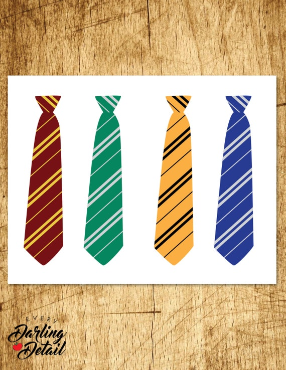 Harry potter inspired printable ties party favor for Harry potter tie template