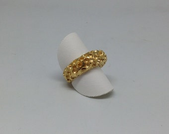 Ring Moonstruck in gold plated silver
