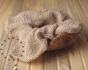 Chunky Knit Layering Blanket - Sandstone