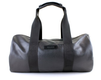 black leather duffel bag medium grain leather with military spec webbing u0026 a waterproof lining