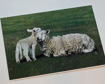 """Original print """"Sheeps"""""""