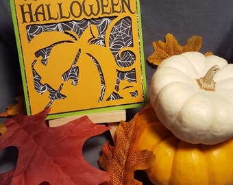 Green/Orange Pumpkin Card