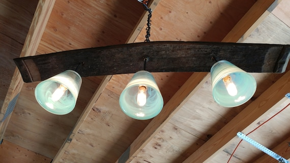 Barrel Stave pendant light