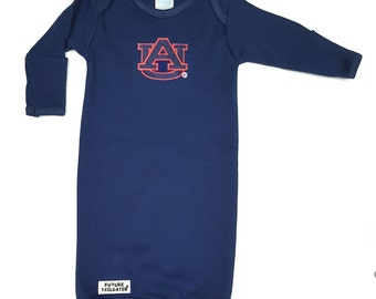 Auburn Tiger Baby Layette Gown