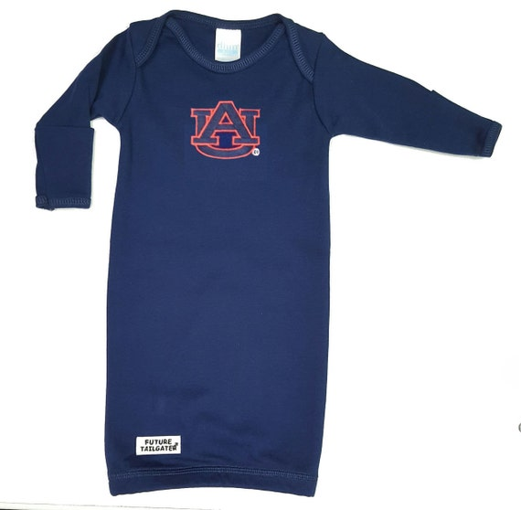 Auburn Tiger Baby Layette Gown