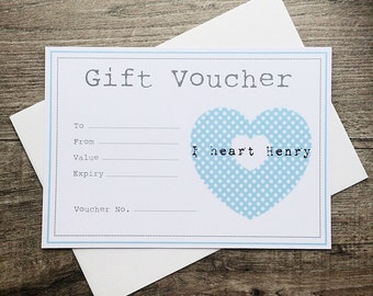 I heart Henry TEN POUND gift voucher. Any amount available