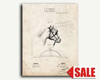 Patent Art - Horse Blinders Patent Wall Art Print
