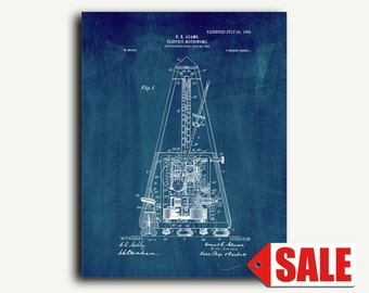 Patent Print - Electric Metronome Patent Wall Art Poster