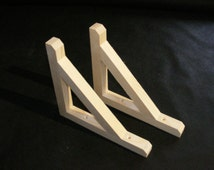 Pine wooden  shelf brackets Hand made in my woodwork shop North cornwall free delivery UK mainland