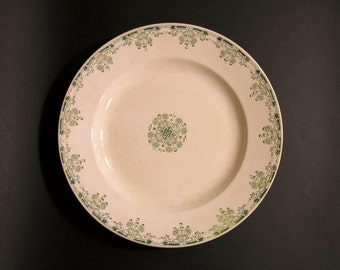 Earthenware U&C Sarreguemines - French Ceramic Dish - Made in France - 1900 - French Ceramic Collectible - French Shabby Chic Earthenware