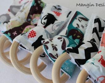 organic teething ring baby wooden maple ring