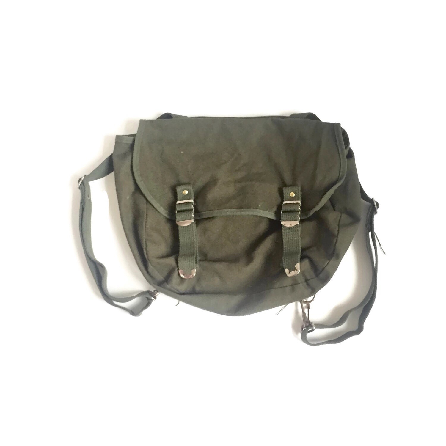 Vintage Military Small Backpack Army Green