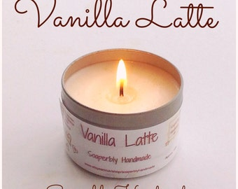 Vanilla Latte soy wax candle, room fragrance, coffee and vanilla, handmade with love