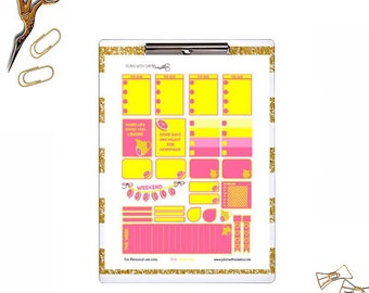 Pink Lemonade - Digital Download Planner stickers