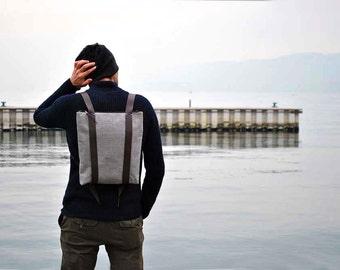 Water resistant canvas backpack, minimal rucksack, lightweight unisex backpacks, custom zipper daypack 101
