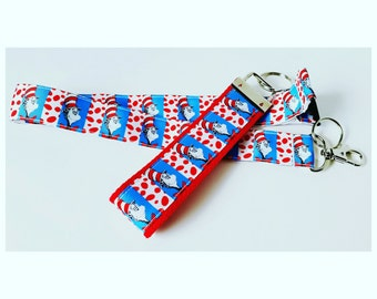 Dr. Seuss lanyard, badge holder, or key chain