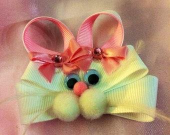 Easter Bunny Hair Bow...Bunny clip