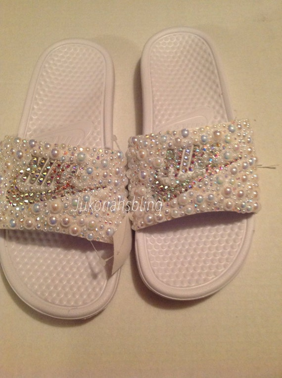 e1409d6929e65a hot sale Bling nike slides nike shoes accessories by Jukoriahsbling on Etsy
